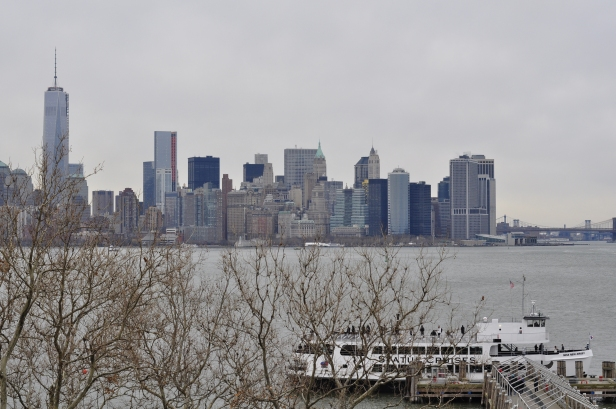 The Manhattan skyline.