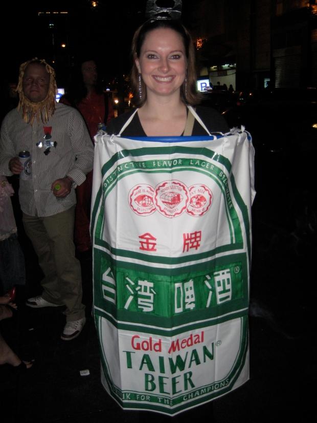 Taiwan Beer Halloween costume