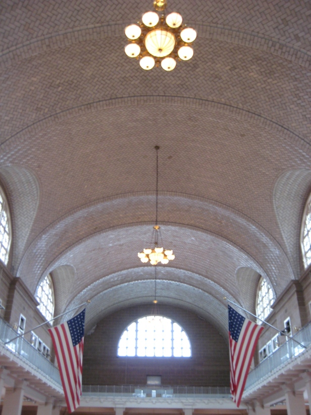 The receiving hall at Ellis Island