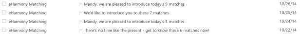 So I had zero matches on October 23rd?