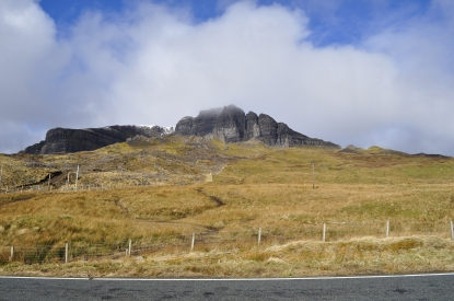You can't really see it, but this is the Old Man of Storr.