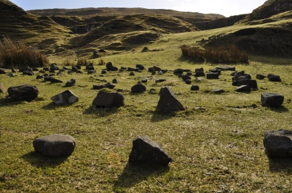 There were a few stone circles and hearts in the glen.