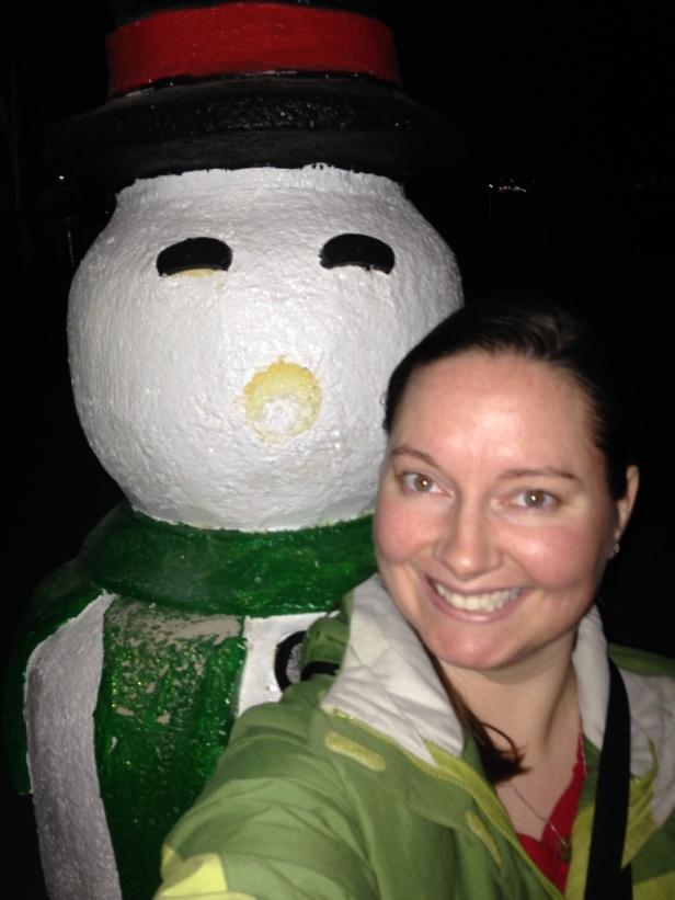 snowman selfie