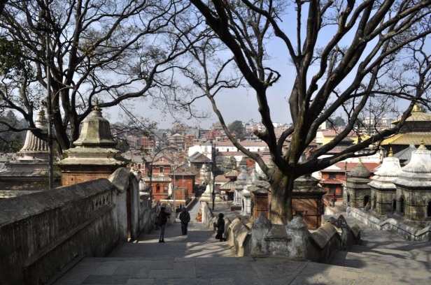 Looking down the hill toward Pashupatinath Temple
